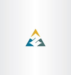 letter z in triangle logo icon vector image