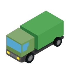 Military truck isometric 3d icon vector image vector image