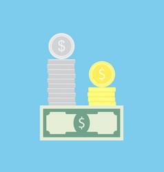 money capital concept vector image vector image