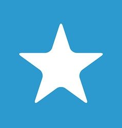 star icon white on the blue background vector image