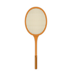 tennis racket in vintage design vector image vector image