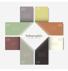 Trendy Design template for infographics website vector image vector image
