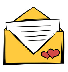 wedding invitation icon cartoon vector image