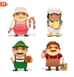 food industry professions vector image vector image