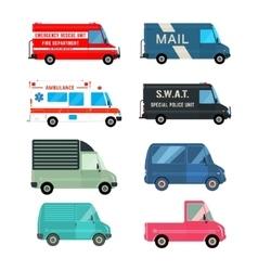 Set service bus vector image vector image