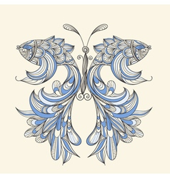 concept butterfly vector image vector image