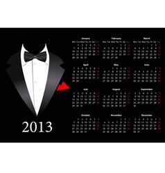 European calendar with smoking 2013 vector