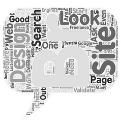 How to select a good web designer developer text vector image