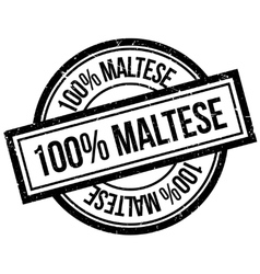 100 percent maltese rubber stamp vector image