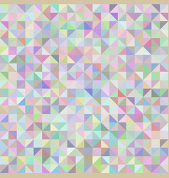 Abstract background of triangles pastel vector