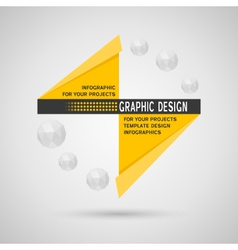 Abstract infographic with geometric elements vector