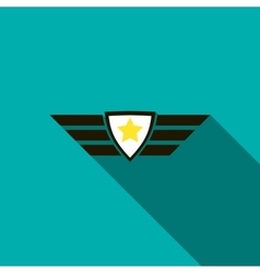 Army emblem icon flat style vector