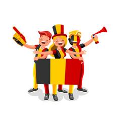 Belgium flag belgian people day vector