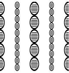 Black and white dna genome simple seamless vector
