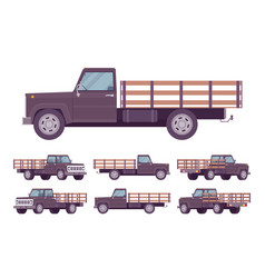 Black empty truck vector