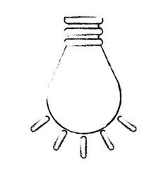 Blurred silhouette cartoon light bulb flat icon vector