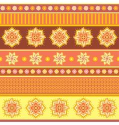 Bright ethnic ornament vector