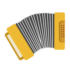 Bright yellow harmonic with keys and buttons vector