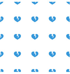 broken heart icon pattern seamless white vector image