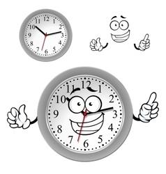Cartoon gray office wall clock character vector image