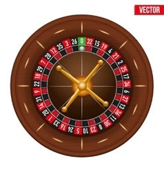 Casino gambling roulette wheel vector