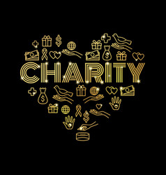 charity and donations vector image