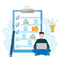 Checklist clipboard folder with document vector