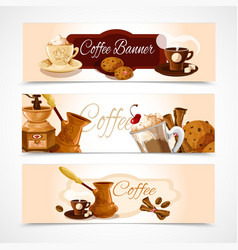 Coffee banners horizontal vector image