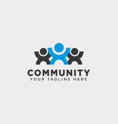 Community human logo template icon element vector