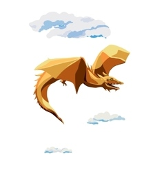 Cratoon flying dragon vector