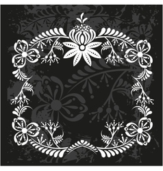 Decorative frame with pattern vector image