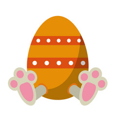 Easter egg with bunny paw vector