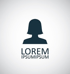 female profile icon vector image