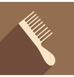 Flat with shadow icon and mobile application hair vector