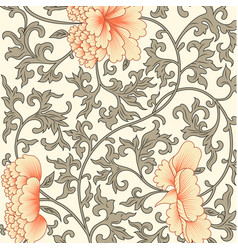 flower background in chinese style vector image