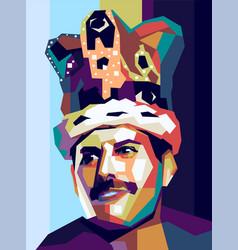 Freddie mercury killer queen vector