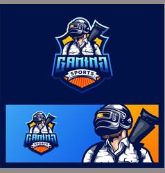 Gaming logo design vector