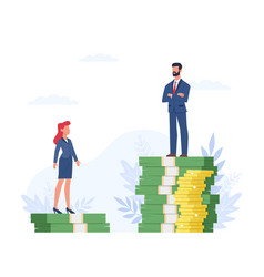 Gender gap man and woman standing vector