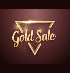 gold sale lettering with glitter effect vector image