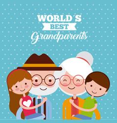 Grandparents day design vector