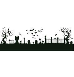 Halloween nightmare landscape cartoon spooky vector