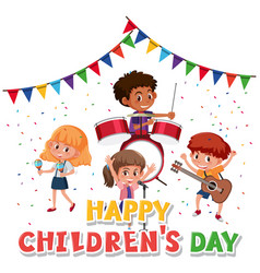 Happy childrens day character vector