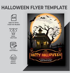 Happy halloween party flyer vector