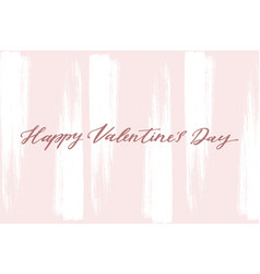 happy valentine s day card with handwritten vector image