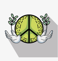 Hippie symbol to peace and love vector