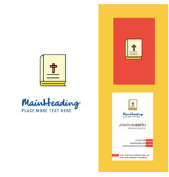 holy bible creative logo and business card vector image