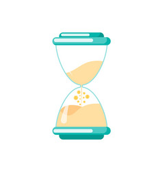 hourglass with sand flowing down isolated watch vector image
