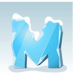 Ice letter m vector
