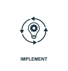 Implement icon symbol creative sign from business vector