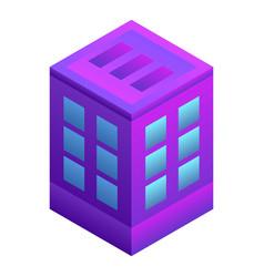intelligent city building icon isometric style vector image